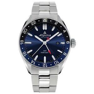 Alpina Alpiner GMT Men's Swiss Quartz Blue Dial 42mm Watch AL-247NB4E6B