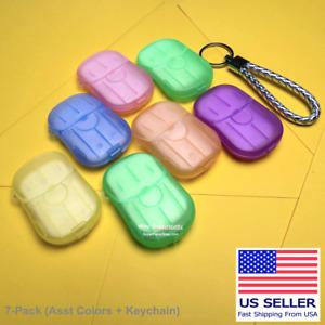140 Super Paper Soap Sheets 7-Pack Pink Blue Green Yellow Purple Orange