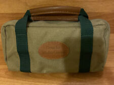 Vintage Drueke Multi Game Canvas Travel Bag Backgammon, Cribbage, Chess, Checker