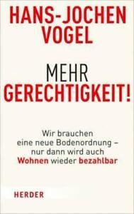 Mehr Gerechtigkeit! von Hans-Jochen Vogel, UNGELESEN