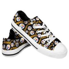 FOCO Pittsburgh Steelers Unisex Checkered Canvas Slip-On Shoes