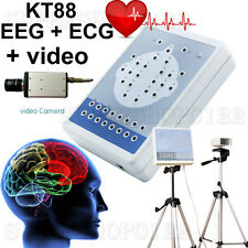 EEG Machine KT88 Digital Brain Electric Activity Mapping 18 Channel+ECG+Video