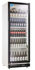 Getränkekühlschrank Flaschenkühlschrank Glastür 360 Liter Umluft schwarz NEU