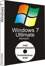 Microsoft Windows 7 ULTIMATE Vollversion 32 & 64 Bit Key OEM + DVD