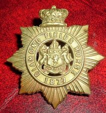 CAP BADGES-VICTORIAN DIAMOND FIELDS HORSE SLOUCH HAT BADGE