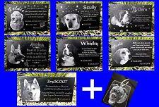Tiergrabstein Grabstein Hund Gedenkstein Katze Gedenkplatte Gravur 20x10 cm
