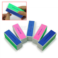 NEW 5PCs Manicur Buffer Block Nail File Polishing Practical Tools Grinding Block