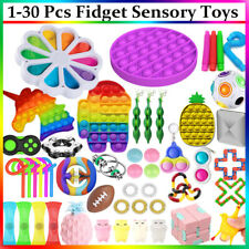 1-30 Stk Push Popet Bubble Fidget Sensory Toy Set Sensory Anti Stress Spielzeug