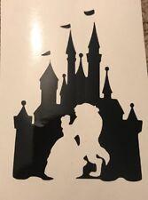 X6 Beauty Beast Castle Stencil Glass Craft Etch  Vinyl Sticker Silhouette Disney