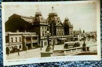 1900's Postcard princess theatre melbourne open trams