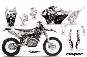 Decal Graphic Kit Wrap For KTM SX/XCR-W/EXC/XC/XC-W/XCF-W 2007-2011 REAPER WHITE