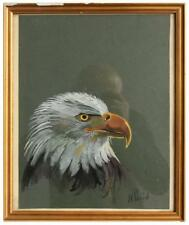 Tête d'aigle étude aquarelle par Henri Fanjul