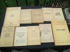 U.S Department of the Army Field Book Set 1943-1959 Wwii Books Lot 10