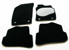 Rover Streetwise 03-05 Carpet Car Mats - Silver / Black Trim & Grey Heel Pad