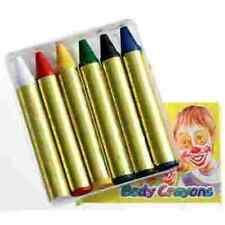 Face paint make up sticks crayons red yellow white black blue green Halloween