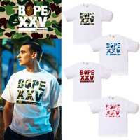A BATHING APE Men's BAPE XXV CITIES CAMO LOGO TEE 25TH NW25 4colors New