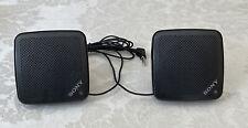 Vintage Sony Speaker System Model SRS-5 Black Portable Tested & Works Small Mini