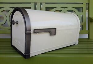 NEW Architectural Mailboxes CORONADO Post Mount in Sand / Antique Nickle 5504S