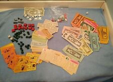 OLD Vtg Money + Life and Monopoly Items & Game pieces + Dice