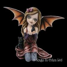 *SHAYLEE* Bat Wings Goth Girl Fairy Art Resin Figurine By Nemesis Now (20cm)