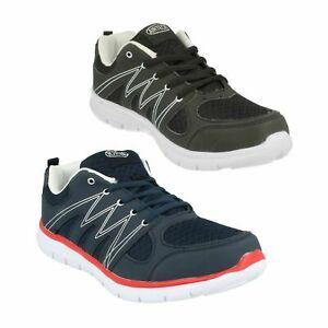 MENS SABRE BLACK LACE UP CASUAL WALKING RUNNING SPORTS TRAINERS SHOES AIR TECH