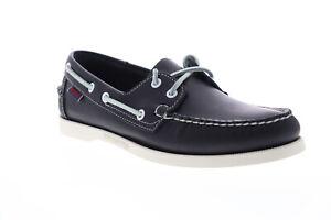 Sebago Portland Docksides chaussures bateau  pour hommes en cuir bleu