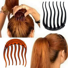 Hairdresser's Aid Hair Comb Hooked Comb Hair Twister Topsy Tail Slides