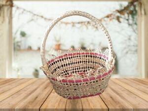 Woman bag home made vase bowl basket Garden Wall Pot Vase gift art Eco-friendly