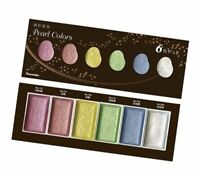 ZIG Kuretake Gansai Tambi Metallic Watercolour 6 colours set Pearl Colours