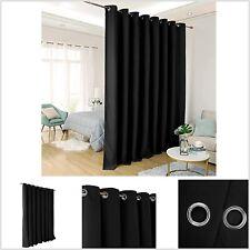 Cortina Divididora Elegante Casa Sala Cuarto Habitacion Oficina Negocio Negra