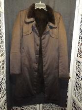 Manteau marron réversible, vraie fourrure du lapin, T40