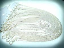 Wholesale Bulk 5 pcs Silver Plated Brilliant Necklace Chain 60cm Quality