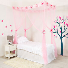 Princess Bed Canopy for Girls Mosquito Net Bed Tent Pink Bedroom Birthday Gift