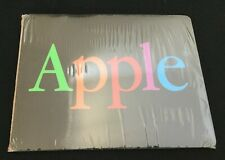 Genuine Vintage BLACK APPLE MOUSE PAD • Rainbow Lettering • NEW in Sealed Wrap