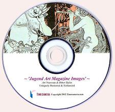 JUGEND ART NOUVEAU MAGAZINE - RESTORED IMAGES FOR PRINT-MAKING ON DVD!