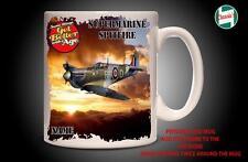 Personalised SUPERMARINE SPITFIRE WW2 PLANE Mug Cup Dad Custom Gift - Add Name