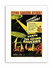 FILM MOVIE SCI FI EARTH VS FLYING SAUCERS ATTACK TAYLOR MARLOWE Poster Film