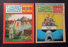 1977 CRACKED Collector's Edition Magazine #21 FVF #22 FN+ Dell Humor LOT of 2