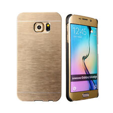 Coque Etui Housse Aluminium Or Gold Metal Case pour Samsung Galaxy S6 Edge