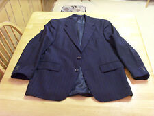 CHAPS RALPH LAUREN LORD & TAYLOR CANADA WOOL NAVY DRESS SUIT JACKET,STRIPED, 42R