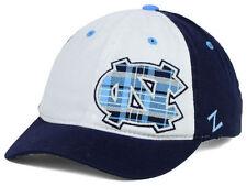 North Carolina Tar Heels NCAA Women's Plaid Short Bill Hat Cadet Cap UNC NC ACC