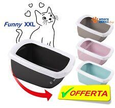 Imac FUNNY Lettiera Aperta XXL 62x49,5x33 cm per gatto, toilette 4 COLORI