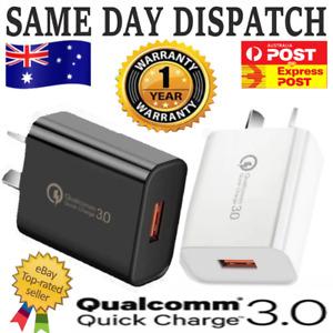 18W Qualcomm Quick Charge Universal QC 3.0 Super Fast USB Wall Charger Au Plug