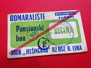 LOCAL NOTE- Bosnia/Croatia - BON/COUPON - TUČEPI -JELŠINGRAD- 1983-1984- stamp !