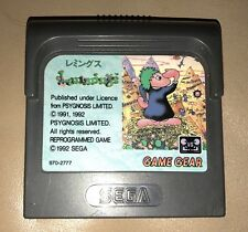 Lemmings Sega Game Gear Cartridge JP