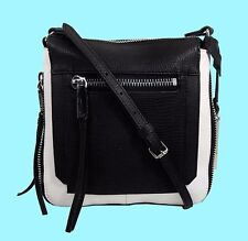 VINCE CAMUTO 'RHONE' Black/White Leather Cross-Body Bag Msrp $158.00 ** REDUCED