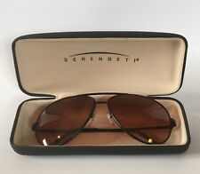 SERENGETI SUNGLASSES MATTE BLACK AVIATOR DR5223 DRIVERS NEW WITHOUT TAGS NWOT
