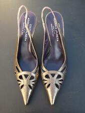 Donald J Pilner Couture Metalic Romy Slingback Heel Shoes 9 M EXC Gently Used