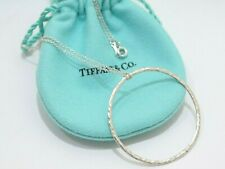 Tiffany & Co. Sterling Silver Paloma Picasso Hammered Circle Pendant Necklace 18