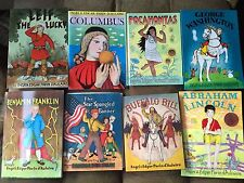 WASHINGTON LINCOLN COLUMBUS FRANKLIN POCAHONTAS LEIF BOOKS D'AULAIRE LOT 8